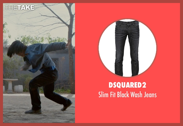 DSquared2 black jeans from Man of Tai Chi seen with Tiger Hu Chen (Tiger Chen Lin Hu)