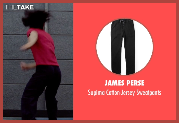 James Perse black sweatpants from Man of Tai Chi seen with Tiger Hu Chen (Tiger Chen Lin Hu)