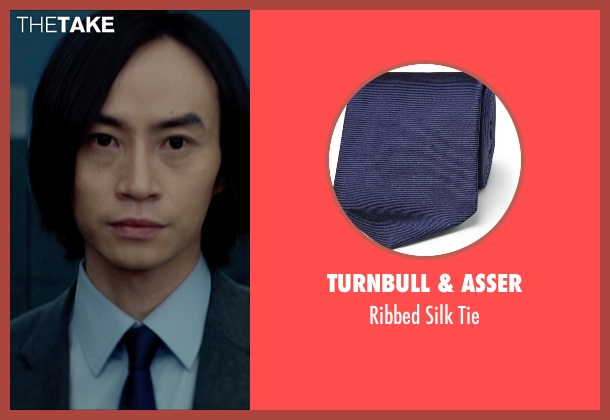 Turnbull & Asser blue tie from Man of Tai Chi seen with Tiger Hu Chen (Tiger Chen Lin Hu)
