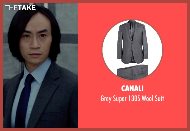 Canali gray suit from Man of Tai Chi seen with Tiger Hu Chen (Tiger Chen Lin Hu)