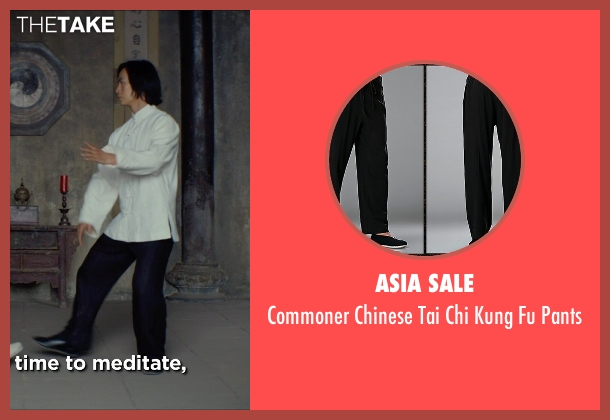 Asia Sale pants from Man of Tai Chi seen with Tiger Hu Chen (Tiger Chen Lin Hu)
