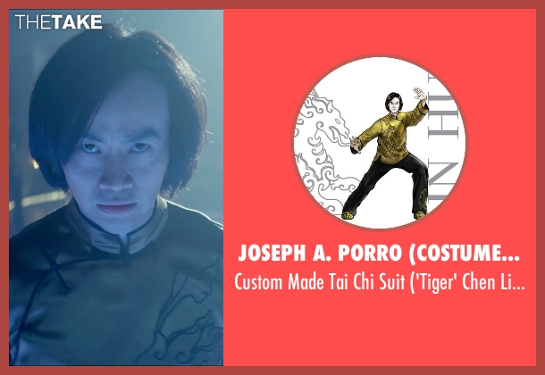 Joseph A. Porro (Costume Designer) suit from Man of Tai Chi seen with Tiger Hu Chen (Tiger Chen Lin Hu)