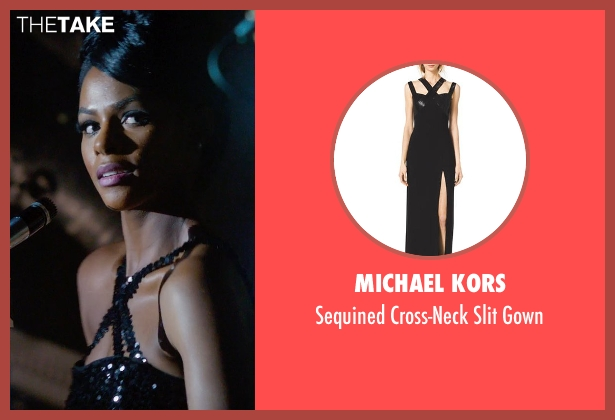Michael Kors black gown from Get On Up seen with Tika Sumpter (Yvonne Fair)
