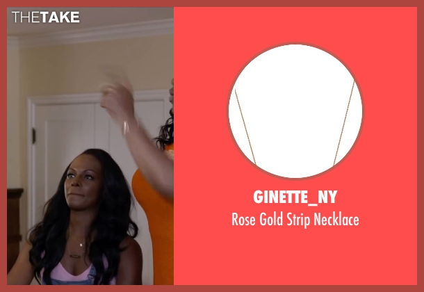 Ginette_ny brown necklace from Ride Along 2 seen with Tika Sumpter (Angela Payton)