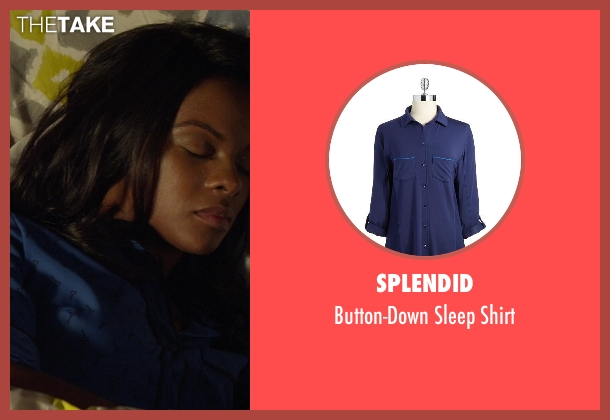 Splendid blue shirt from Ride Along seen with Tika Sumpter (Angela Payton)