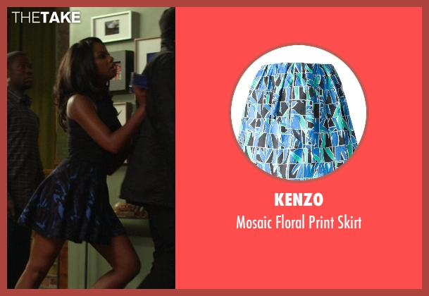Kenzo blue skirt from Ride Along seen with Tika Sumpter (Angela Payton)