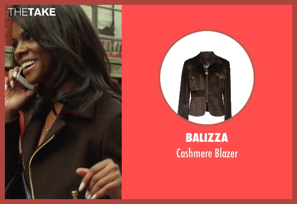 Balizza brown blazer from Ride Along seen with Tika Sumpter (Angela Payton)