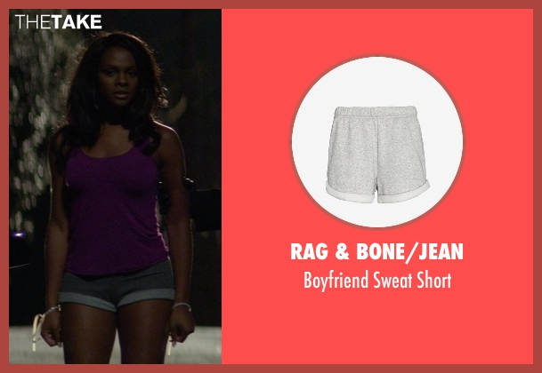 Rag & Bone/JEAN gray short from Ride Along seen with Tika Sumpter (Angela Payton)