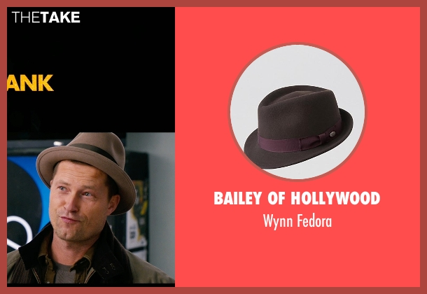 Bailey of Hollywood brown fedora from New Year's Eve seen with Til Schweiger (James Schwab)