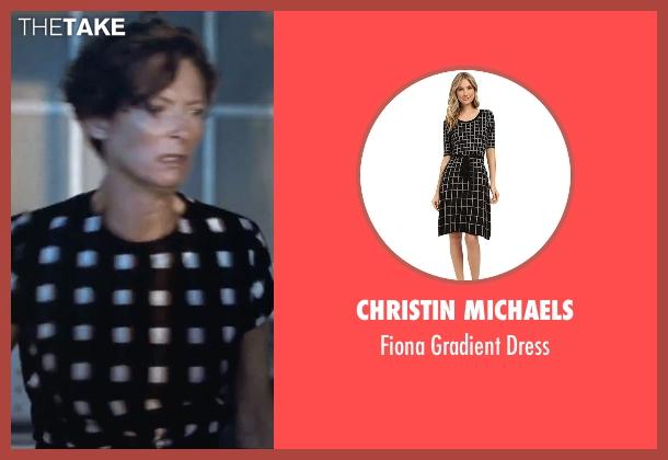 Christin Michaels black dress from A Bigger Splash seen with Tilda Swinton (Marianne Lane)