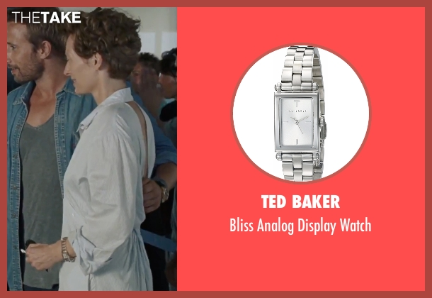 Ted Baker silver watch from A Bigger Splash seen with Tilda Swinton (Marianne Lane)