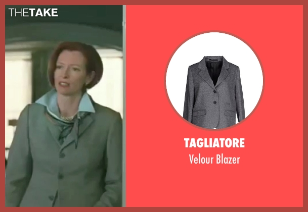 Tagliatore gray blazer from Burn After Reading seen with Tilda Swinton (Katie Cox)