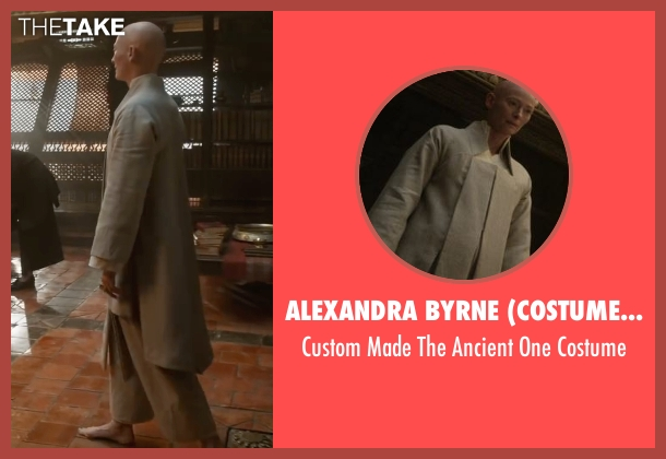 Alexandra Byrne (Costume Designer) costume from Doctor Strange seen with Tilda Swinton (The Ancient One)