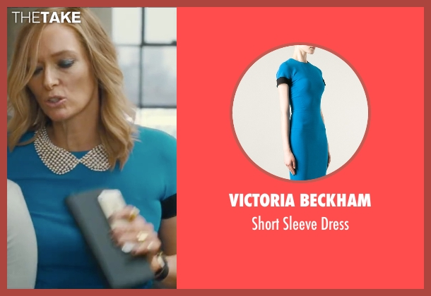 Diane von Furstenberg blue dress from Trainwreck seen with Tilda Swinton (Dianna)