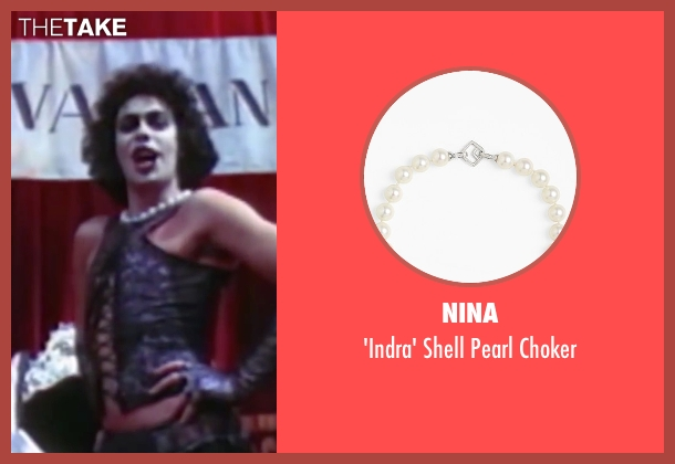 Nina white choker from The Rocky Horror Picture Show seen with Tim Curry (Dr. Frank-N-Furter)