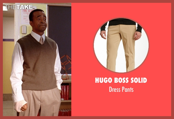 Hugo Boss Solid beige pants from Mean Girls seen with Tim Meadows (Mr. Duvall)