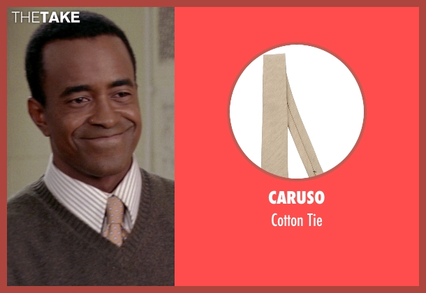 Caruso beige tie from Mean Girls seen with Tim Meadows (Mr. Duvall)