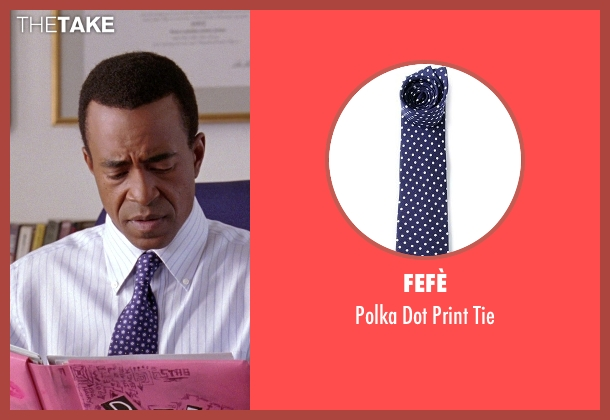 Fefè blue tie from Mean Girls seen with Tim Meadows (Mr. Duvall)