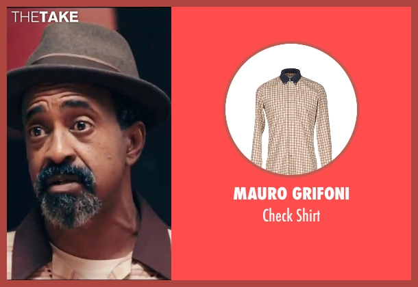 Mauro Grifoni beige shirt from Popstar: Never Stop Never Stopping seen with Tim Meadows