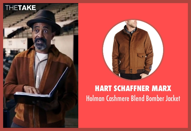 Hart Schaffner Marx brown jacket from Popstar: Never Stop Never Stopping seen with Tim Meadows