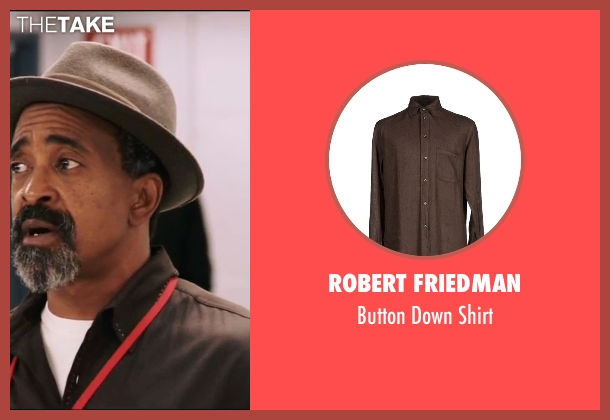 Robert Friedman brown shirt from Popstar: Never Stop Never Stopping seen with Tim Meadows