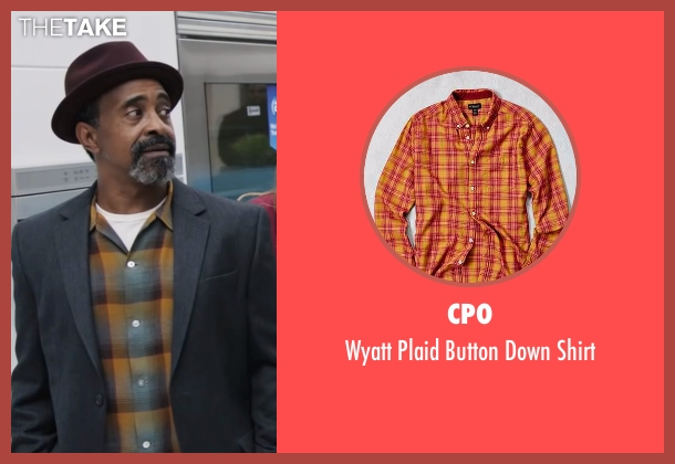CPO orange shirt from Popstar: Never Stop Never Stopping seen with Tim Meadows (Unknown Character)