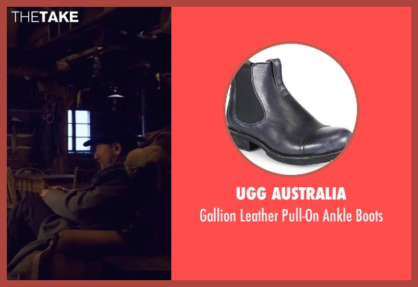 UGG Australia black boots from The Hateful Eight seen with Tim Roth (Oswaldo Mobray)