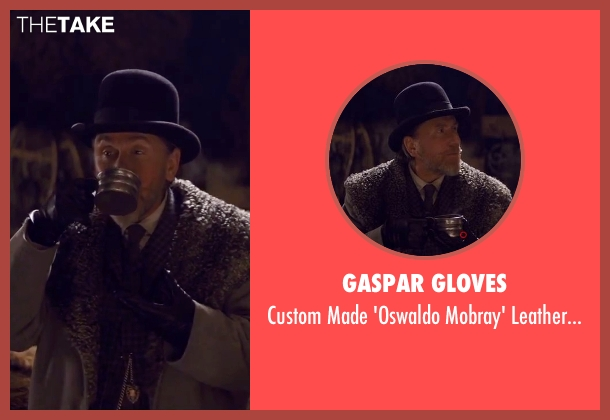 Gaspar Gloves black gloves from The Hateful Eight seen with Tim Roth (Oswaldo Mobray)