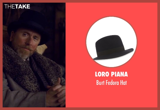 Loro Piana black hat from The Hateful Eight seen with Tim Roth (Oswaldo Mobray)