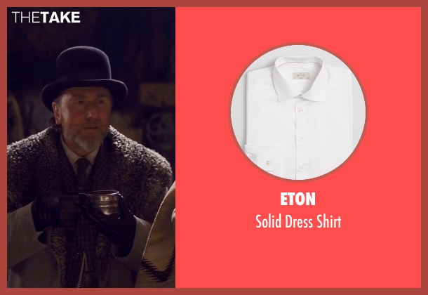 Eton white shirt from The Hateful Eight seen with Tim Roth (Oswaldo Mobray)