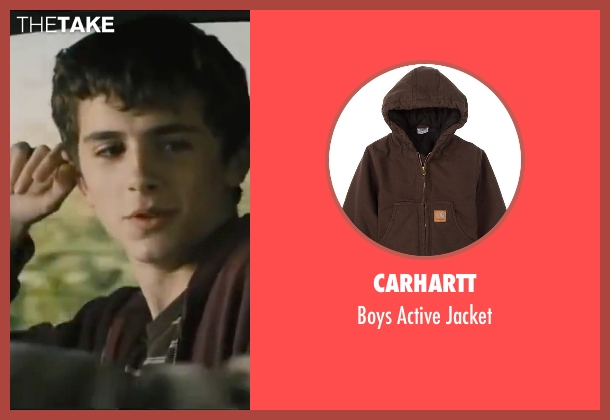 Carhartt brown jacket from Interstellar seen with Timothée Chalamet (Young Tom)