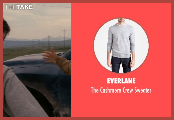 Everlane gray sweater from Interstellar seen with Timothée Chalamet (Young Tom)