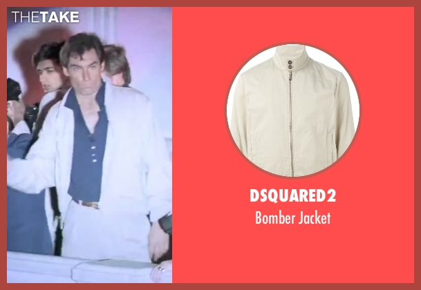 Dsquared2 beige jacket from The Living Daylights seen with Timothy Dalton (James Bond)
