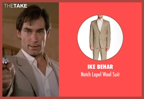 Ike Behar beige suit from The Living Daylights seen with Timothy Dalton (James Bond)