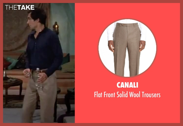 Canali beige trousers from The Living Daylights seen with Timothy Dalton (James Bond)