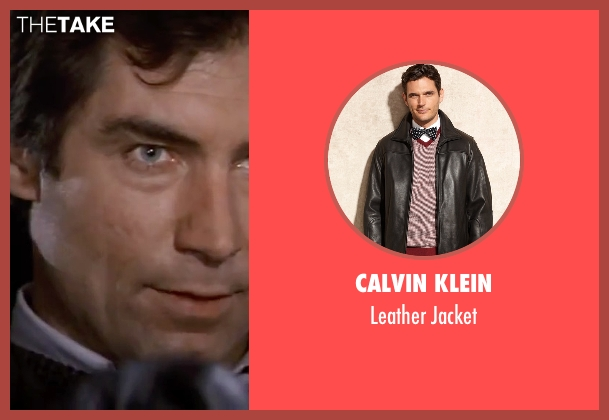 Calvin Klein black jacket from The Living Daylights seen with Timothy Dalton (James Bond)