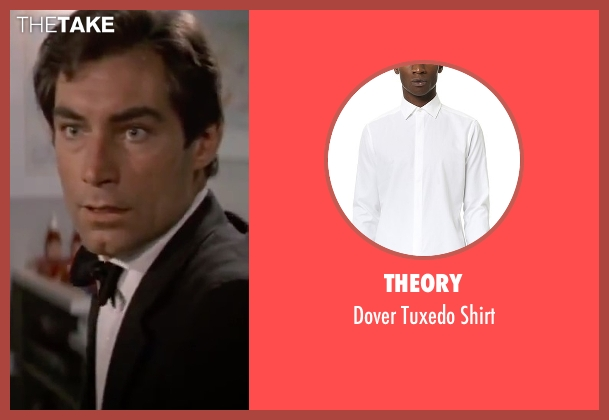Theory black shirt from The Living Daylights seen with Timothy Dalton (James Bond)