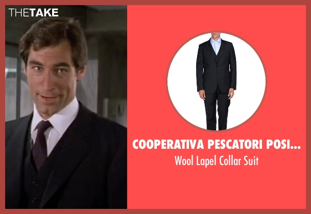 Cooperativa Pescatori Posillipo black suit from The Living Daylights seen with Timothy Dalton (James Bond)