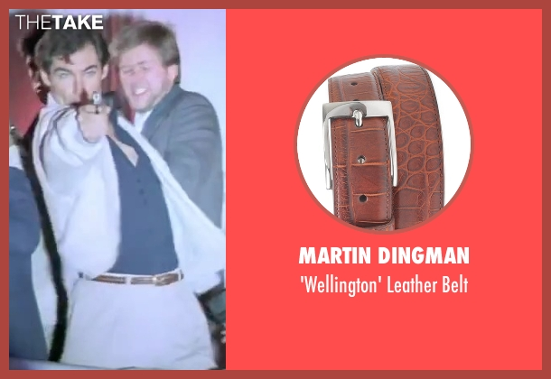Martin Dingman brown belt from The Living Daylights seen with Timothy Dalton (James Bond)