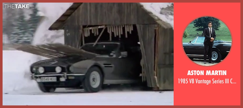 Aston Martin car from The Living Daylights seen with Timothy Dalton (James Bond)