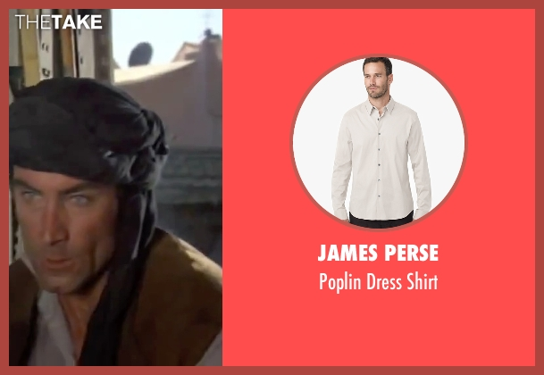 James Perse white shirt from The Living Daylights seen with Timothy Dalton (James Bond)
