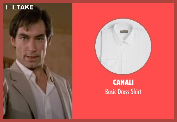 Canali white shirt from The Living Daylights seen with Timothy Dalton (James Bond)