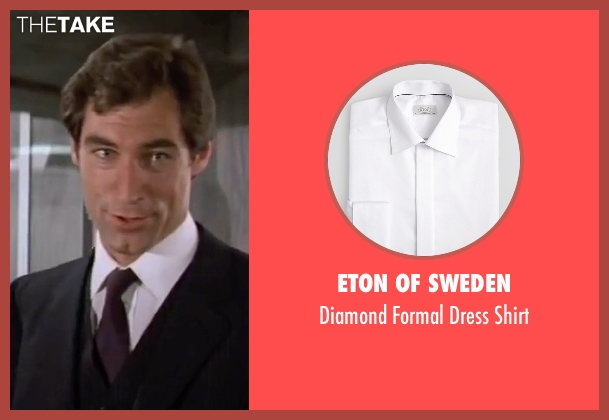 Eton Of Sweden white shirt from The Living Daylights seen with Timothy Dalton (James Bond)