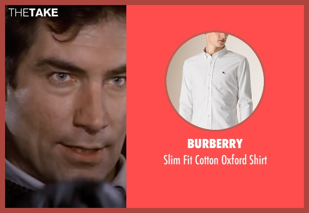 Burberry white shirt from The Living Daylights seen with Timothy Dalton (James Bond)