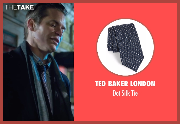 Ted Baker London blue tie from Snowden seen with Timothy Olyphant (Unknown Character)