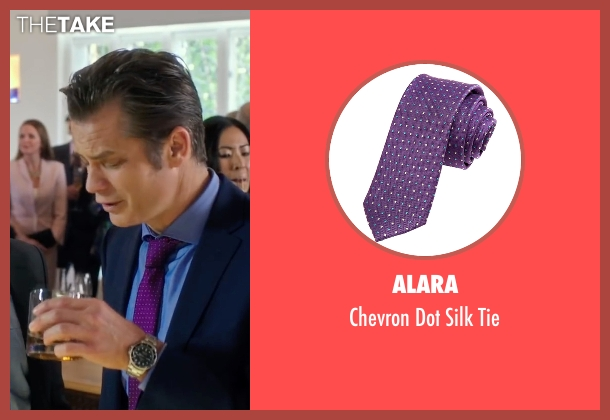 Alara purple tie from Snowden seen with Timothy Olyphant (Unknown Character)