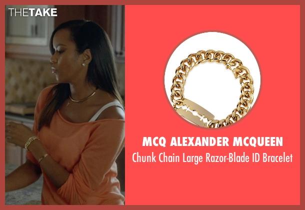 McQ Alexander McQueen gold bracelet from Ballers seen with Tina (LeToya Luckett)