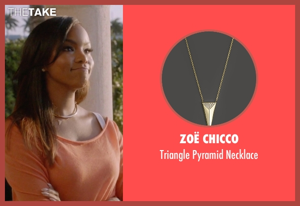Zoë Chicco gold necklace from Ballers seen with Tina (LeToya Luckett)