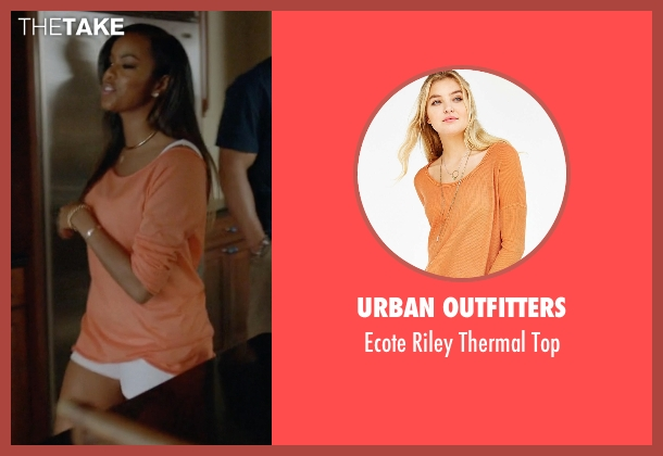 Urban Outfitters orange top from Ballers seen with Tina (LeToya Luckett)