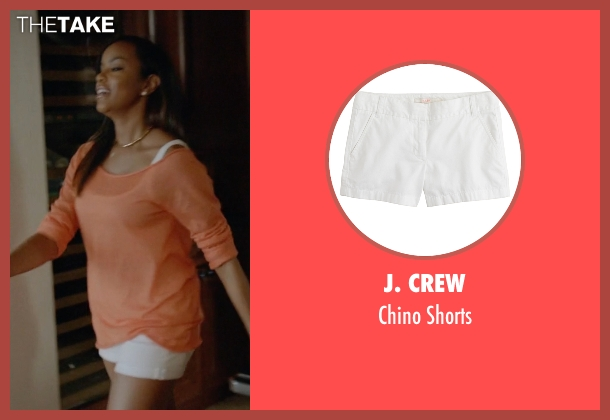J. Crew white shorts from Ballers seen with Tina (LeToya Luckett)